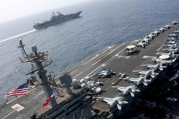 Iran,Mỹ,tàu sân bay,chiến đấu cơ,tập trận