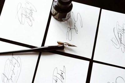 Phát tài nhờ dịch vụ dạy viết chữ ký đẹp