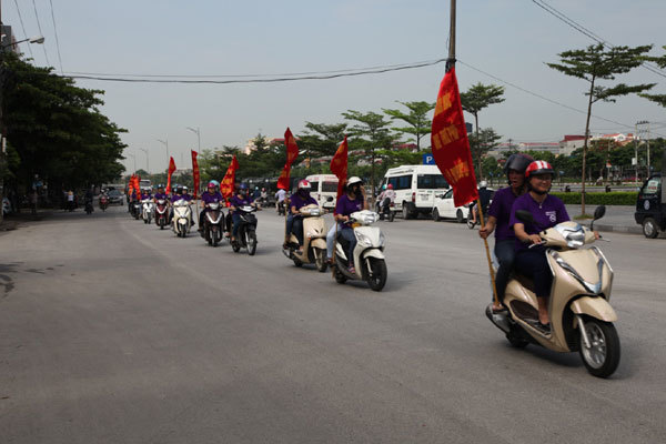 Ninh Bình: Diễu hành hưởng ứng ngày thế giới không thuốc lá