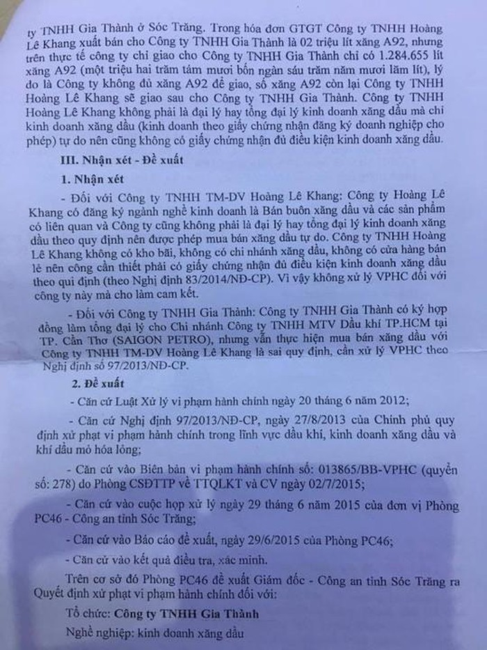 'Phi vụ' mua bán 2 triệu lít xăng có liên quan đến đại gia Trịnh Sướng