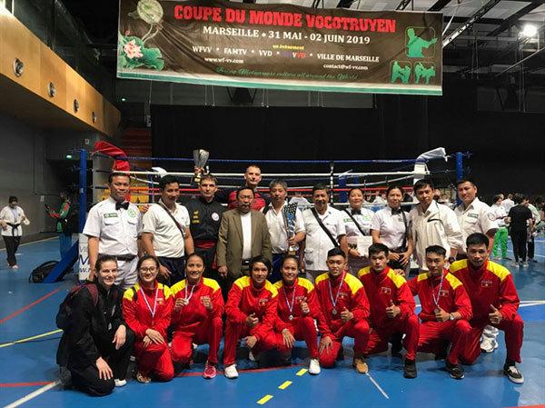 Athletes take gold at Vietnamese Traditional Martial Arts World Cup