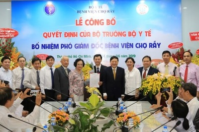 Bổ nhiệm bác sĩ Nguyễn Tri Thức làm Phó giám đốc bệnh viện Chợ Rẫy