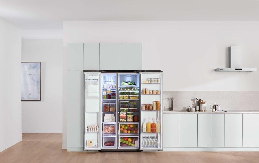Xu hướng tủ lạnh Side by Side 2019 - Dung tích lớn nhưng diện tích không đổi