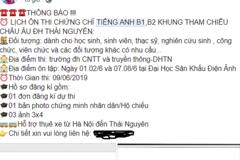 ĐH Thái Nguyên hoãn thi đánh giá năng lực Tiếng Anh vì tin đồn tiêu cực