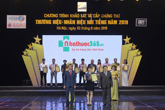 Nhathuoc365.vn nhận giải Thương hiệu - Nhãn hiệu nổi tiếng 2019
