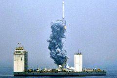 Xem TQ lần đầu phóng tên lửa không gian giữa biển