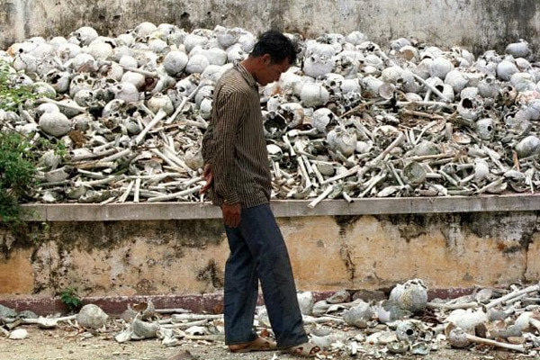 Những vệt máu ở nhà tù Tuol Sleng