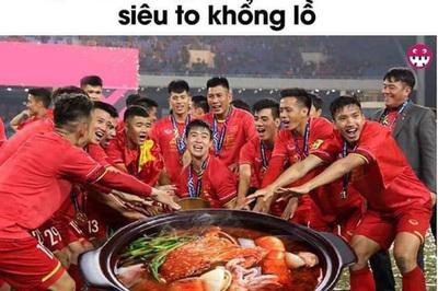 """Dân mạng chế ảnh """"cực lầy"""" mừng chiến thắng tuyển Việt Nam"""