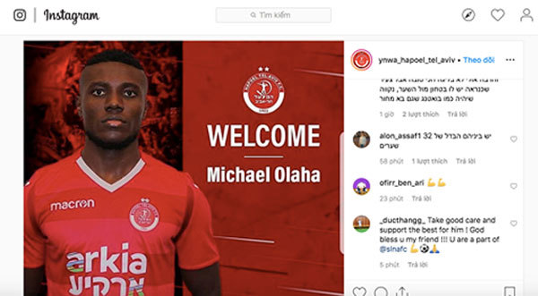 Olaha to leave Song Lam Nghe An at end of season