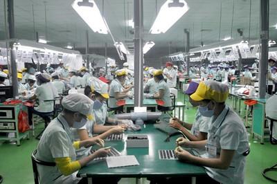 Sản xuất linh kiện điện tử tăng 36,69%