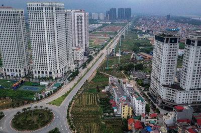 'Rừng chung cư' dọc tuyến đường ngoại giao ra sân bay Nội Bài