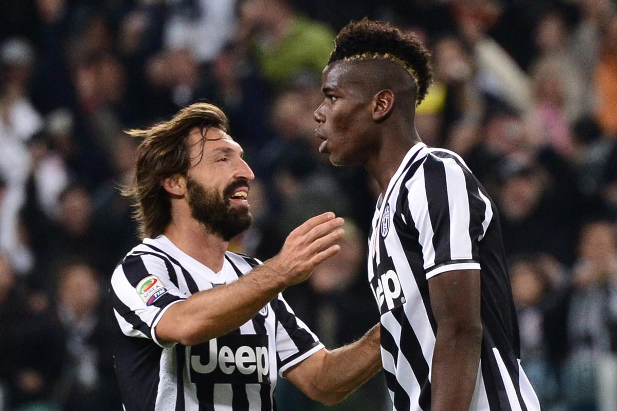 Juventus,Andrea Pirlo,Paul Pogba