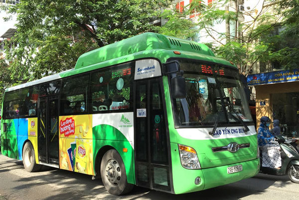 Hanoi to have four more bus routes with CNG vehicles