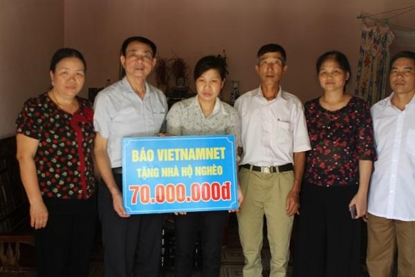 Hoàn cảnh khó khăn,Báo VietNamNet trao tiền,Xây nhà cho người nghèo