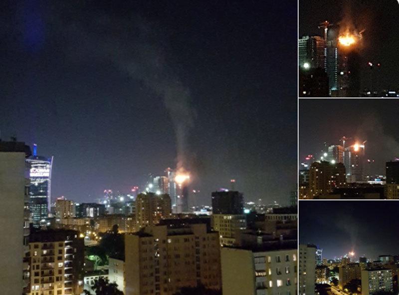 Tòa tháp 'chọc trời' ở thủ đô Ba Lan bốc cháy dữ dội