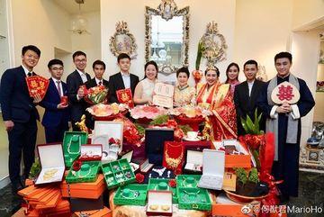 Choáng với sính lễ toàn vàng ròng trong đám cưới con gái 'vua sòng bạc Macau'