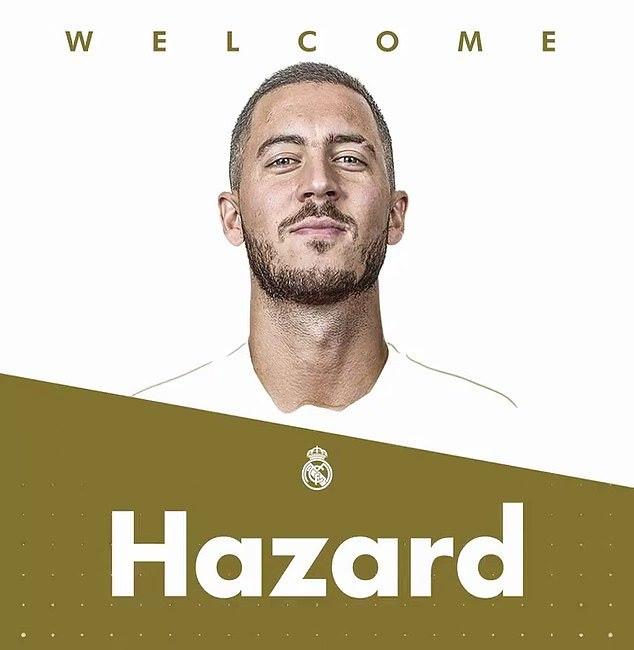 Real Madrid công bố 'bom tấn' Hazard 150 triệu bảng Anh