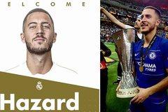 """Real Madrid công bố """"bom tấn"""" Hazard 150 triệu bảng Anh"""