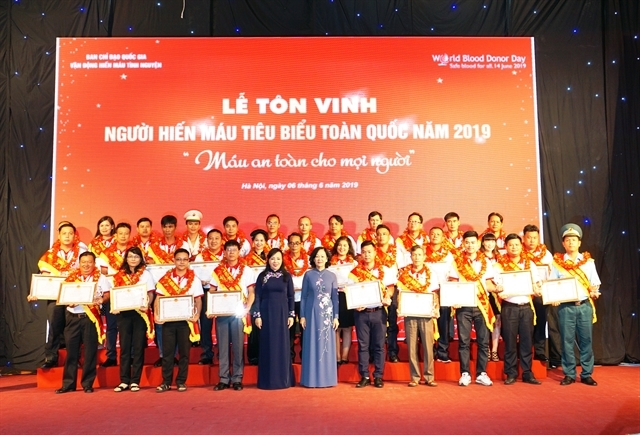 Vietnamese man sets goal to donate blood 100 times