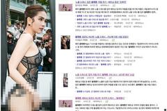 Loạt báo Hàn chỉ trích Ngọc Trinh: 'Hở hang đến mức phạm pháp'