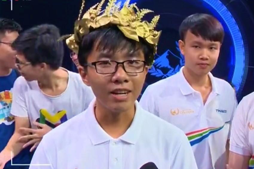 Nam sinh Cần Thơ giành vé vào chung kết Olympia năm 2019