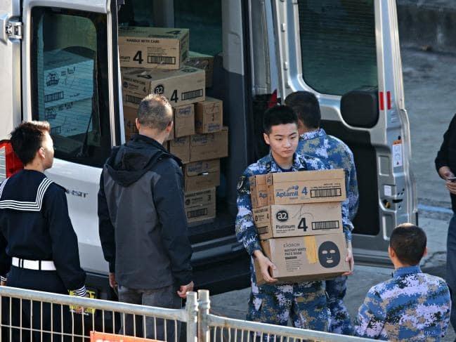 Trung Quốc,Australia,Sydney,cảng Sydney,tàu chiến,Hải quân,sữa bột,sữa công thức,thủy thủ,melanine