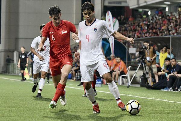 Thái Lan ê chề, đội U23 thua U23 Singapore ở Merlion Cup