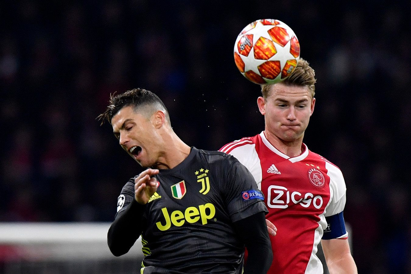 De Ligt,Ronaldo,Juventus,MU,Ajax