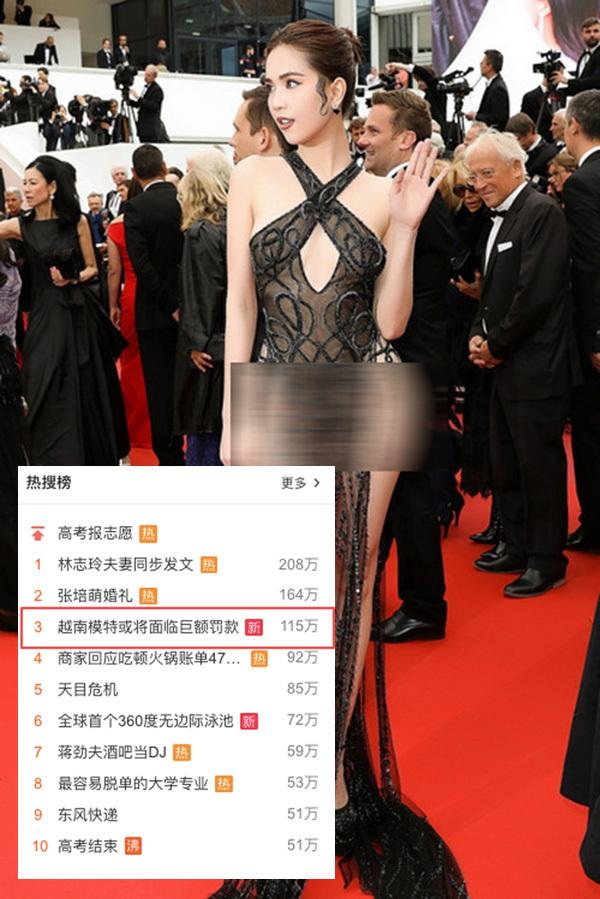 Bị nghiên cứu xử phạt, Ngọc Trinh lọt Top tìm kiếm nhiều nhất ở Trung Quốc