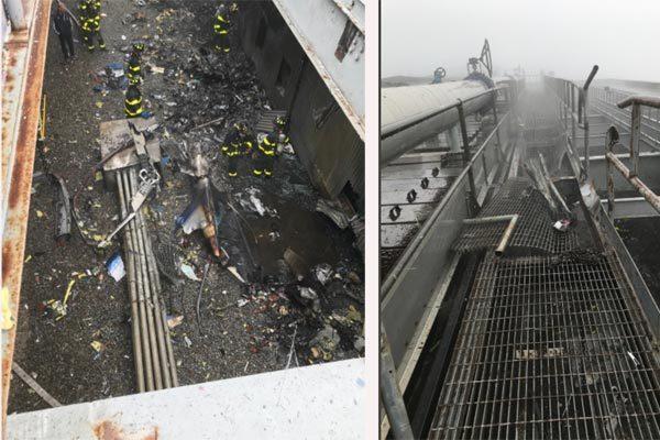 Trực thăng gặp nạn thảm khốc lúc hạ cánh trên nóc cao ốc Mỹ