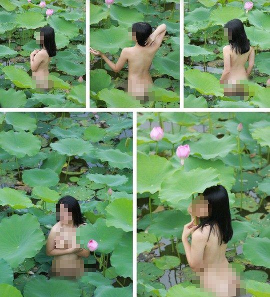 Thiếu nữ ngực trần chụp sen và loạt ảnh nhức mắt dân mạng