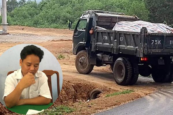Chủ tịch xã ở Thừa Thiên Huế khai thác cát lậu cho bố lấp nền nhà