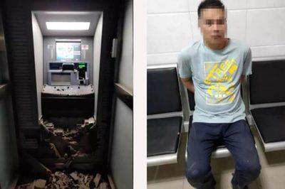 Kết đắng cho tên trộm dùng búa tạ phá cây ATM
