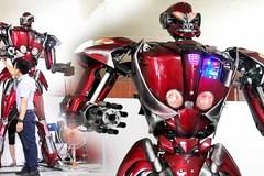 Nhóm 9x Hà Nội đi xin phế liệu xe máy chế tạo robot khổng lồ