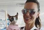 Nữ thuyền trưởng Mỹ đi khắp thế giới cùng mèo quý tộc