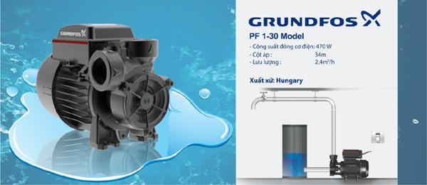 máy bơm nước dân dụng,máy bơm grundfos,máy bơm tăng áp