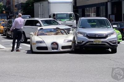 Chủ xe Bugatti thiệt hại 200.000 USD sau va chạm với Honda CR-V