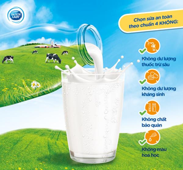 thương hiệu sữa,chuẩn 4 không