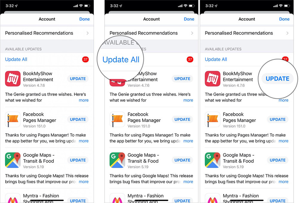 Cách cập nhật ứng dụng trên iOS 13 và iPadOS 13