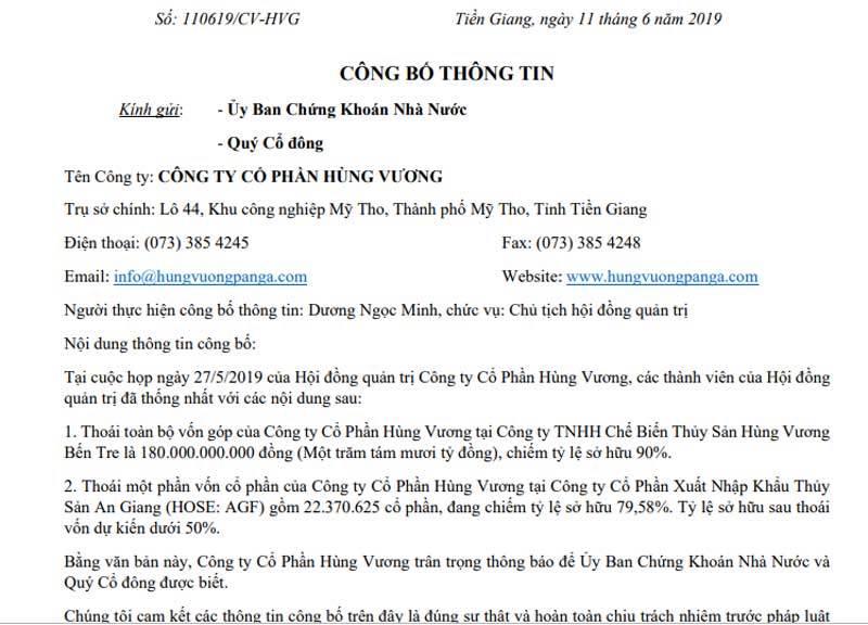 tin chứng khoán,chứng khoán,VN-Index,thị trường chứng khoán,Thủy sản Hùng Vương,Dương Ngọc Minh,cổ phiếu thủy sản