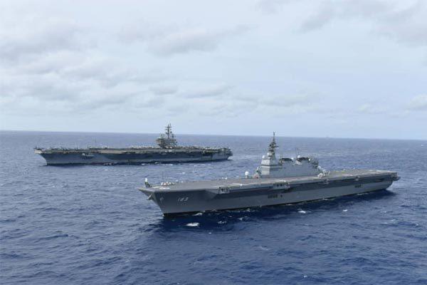 Mỹ,Nhật,Biển Đông,tàu chiến,tàu sân bay,Trung Quốc