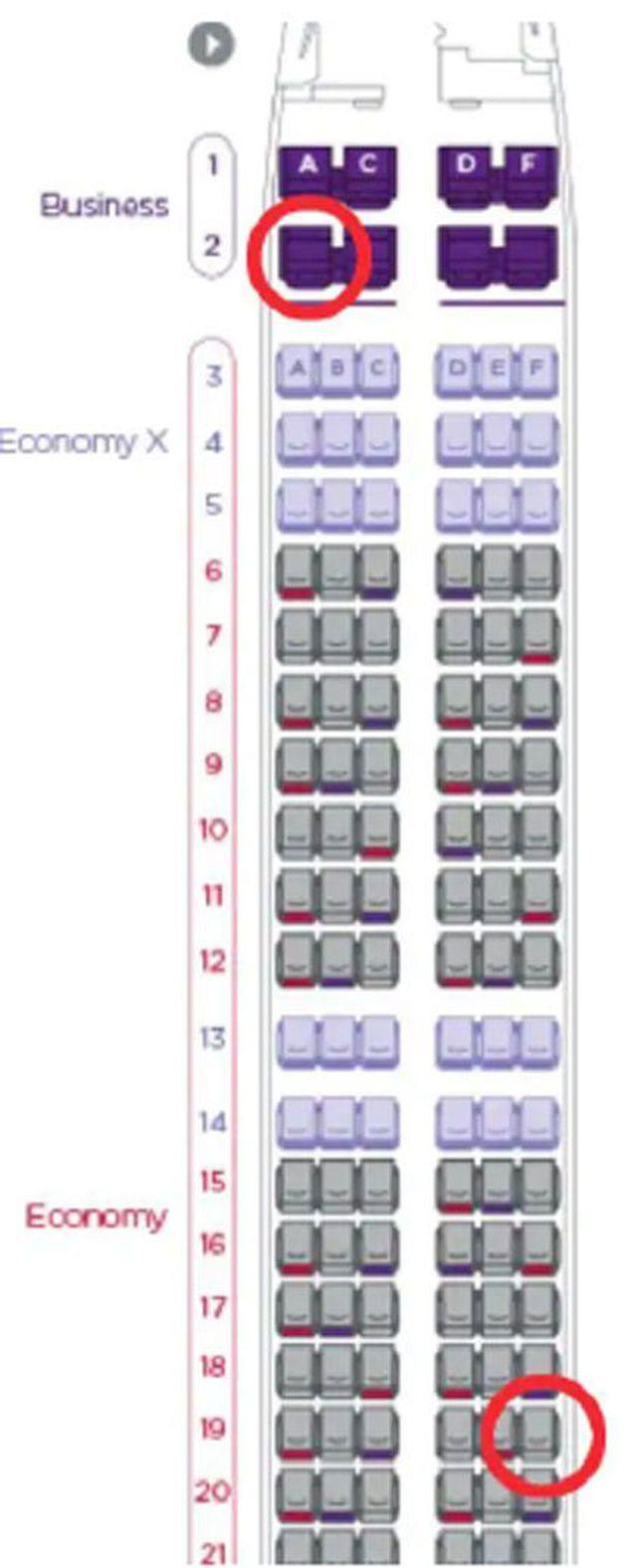 Đâu là hai vị trí ghế ngồi được hành khách đặt nhiều nhất trên máy bay?
