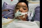 Bé Dương Thành bị bệnh tim đã có đủ tiền chữa bệnh