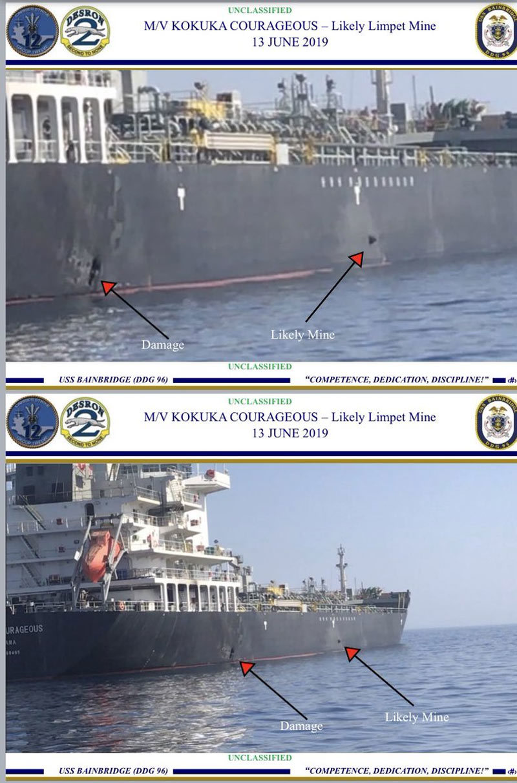 Mỹ tố Iran dỡ mìn khỏi tàu dầu bị tấn công, điều chiến hạm tới Vịnh Oman