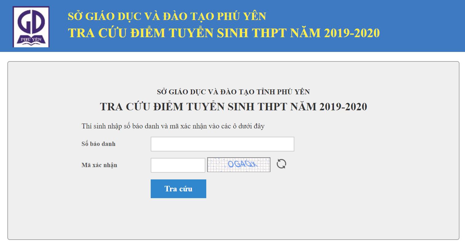 Phú Yên công bố điểm thi vào lớp 10 năm 2019