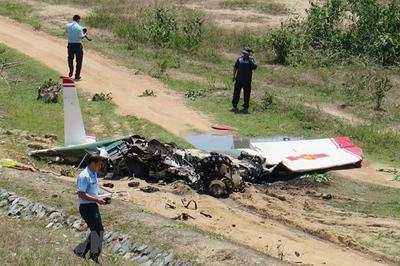 Hình ảnh hiện trường máy bay quân sự rơi khiến 2 phi công hy sinh