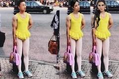Hết hồn với khoảnh khắc BB Trần - Hải Triều mặc quần mà cứ ngỡ cởi truồng, vô tư tạo dáng trên phố đông người