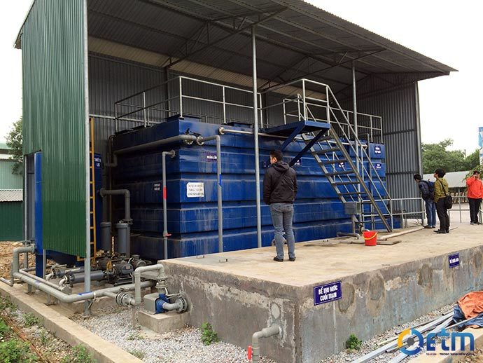 Made-in-Vietnam waste water treatment can be used in industrial zones