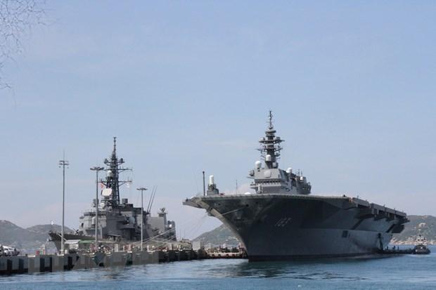 Japanese naval vessels visit Vietnam