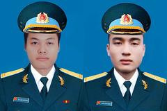 Bộ Quốc phòng thăng quân hàm 2 phi công hy sinh trong vụ máy bay rơi